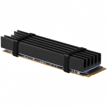 AXAGON CLR-M2L10 passive - M.2 SSD, 80mm SSD, ALU body, silicone thermal pads, height 10mm