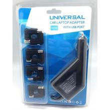 Universalus automobilinis nešiojamų kompiuterių 100W pakroviklis su skirtingais 12 antgalių POWERMAX PNCUC01 12V+USB