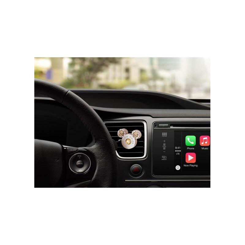 MICKEY MOUSE su kristalais automobilio kvepalai, oro kondicionieriaus grotelėse YELLOW