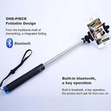 Belaidė Asmeninio fotografavimo lazda LOCUST Bluetooth BLUE selfie stick