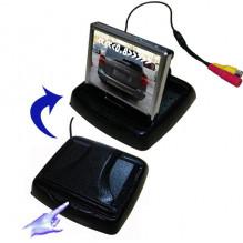 """PMC-1135 3.5"""" parkavimo sistemos monitorius su galinio vaizdo kamera ir davikliais"""