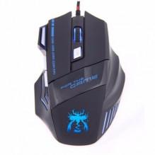 Snigir USB laidinė žaidimų pelė su LED šiesomis ir 7 programuojamais mygtukais