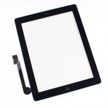 APPLE IPAD3 IPAD4 A1395 A1396 A1416 A1430 lietimui jautrus ekranas, juodos spalvos su mygtuku