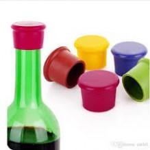 Silikoninis vyno kamštis, raudonas
