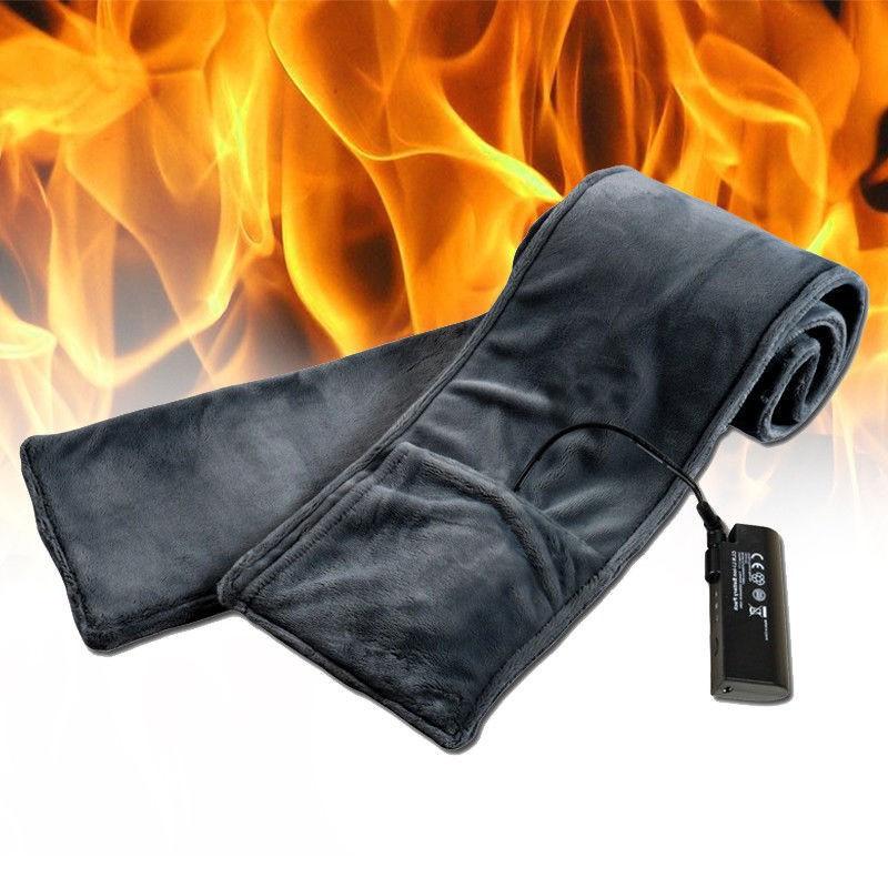 Unikalus elektrinis šildomas šalikas, juodos spalvos. PUIKI DOVANA