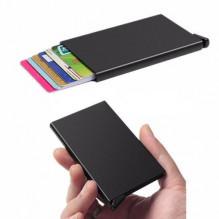 RFID BLACK kortelių dėklas, apsaugo nuo duomenų nuskaitymo ir bankinių vagysčių