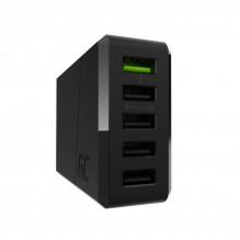 3-port charger Green Cell GC ChargeSource 5 5xUSB 52W with Ultra Charge and Smart Charge