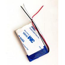 Universali GPS navigacijų baterija su trimis laidais 60x40 mm