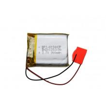 Universali GPS navigacijų baterija su dviem laidais 25x15mm