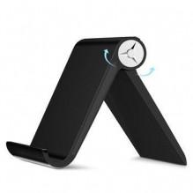 BLACK STALINIS Telefono laikiklis, stovas su reguliuojamu kampu, skirtas Apple, iPhone, Samsung ir kitiems telefonams