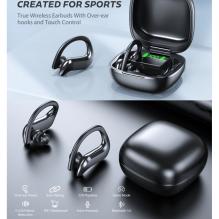 VOULAO MD-03 TWS bluetooth 5.0 belaidės ausinės su mikrofonu, įkrovimo dėklu
