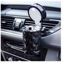 Išskirtinio dizaino, universali su LED šviesa, nešiojama automobilinė peleninė