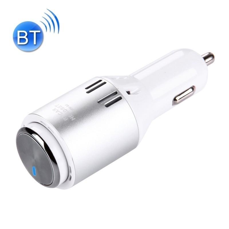 NAUJIENA Automobilinis įkroviklis su Bluetooth laisvųjų rankų įranga 5V/2.4A SILVER