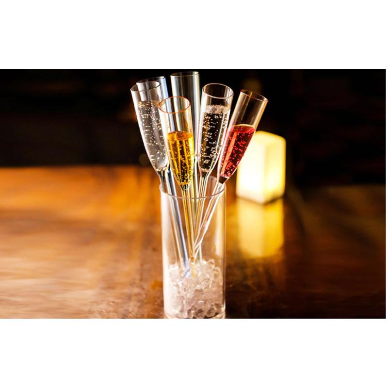 6 vnt. Plastikinės šampano kokteilių taurės