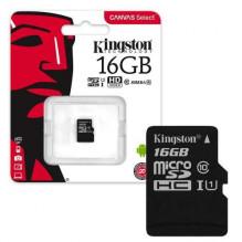 Kingston atminties kortelė 16GB (10 klasė) Micro SD