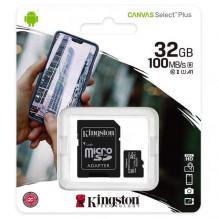 Kingston atminties kortelė 32GB (10 klasė) Micro SD