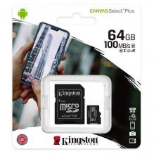 KINGSTON Atminties kortelė 64GB (10 klasė) Micro SD