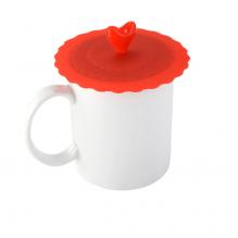 RED Silikoninis Anti Dust puodelio dangtelis, atsparus karščiui