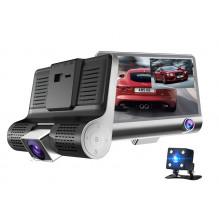 DVR TRIPLE aukštos raiškos IPS ekranas, 170 laipsnių vaizdo registratorius su galine vaizdo kamera