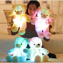 Šviečiantis spalvingomis LED spalvomis meškiukas