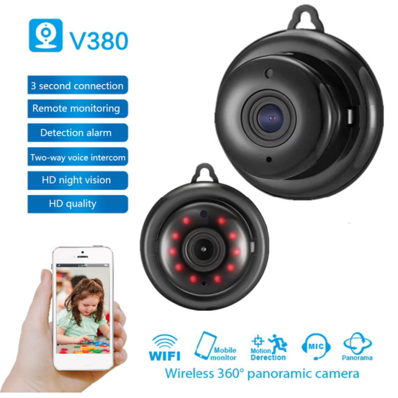 Išmani Mini WIFI vaizdo stebėjimo kamera