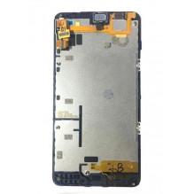 Ekranas Microsoft (Nokia) Lumia 640 su lietimui jautriu stikliuku ir rėmeliu juodas originalus (used grade B)