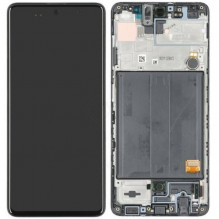 Ekranas Samsung A515 A51 2020 su lietimui jautriu stikliuku juodas originalus (service pack)