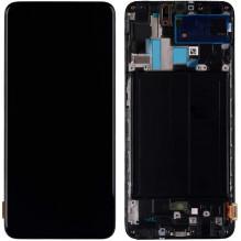 Ekranas Samsung A705 A70 2019 su lietimui jautriu stikliuku juodas originalus (service pack)