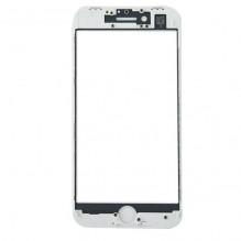 LCD stikliukas Apple iPhone 8/SE2 su rėmeliu baltas ORG