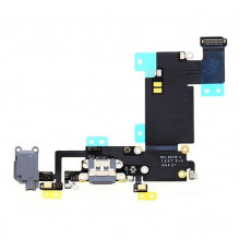 Lanksčioji jungtis Apple iPhone 6S Plus audio ir įkrovimo kontaktų, su mikrofonu pilka ORG