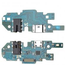 Lanksčioji jungtis Samsung A105 A10 2019 Single SIM (SUB 0.2) su įkrovimo kontaktu, mikrofonu, ausinių lizdu ORG