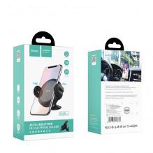 Automobilinis universalus telefono laikiklis HOCO CA35 Lite tvirtinamas ant prietaisų skydelio, juodas