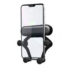Automobilinis universalus telefono laikiklis Omega (4.7-6.5 colių) tvirtinamas ant ventiliacijos grotelių,juodas