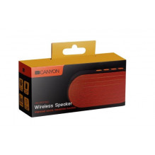 Bluetooth nešiojamas garsiakalbis CANYON CNE-CBTSP3BO (MicroSD,AUX,BT V4.2,300mAh) juodos-oranžinės spalvos