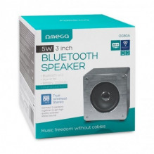 Bluetooth nešiojamas garsiakalbis OMEGA WOODEN OG60A (MicroSD, laisvų rankų įranga, AUX,FM) pilkas