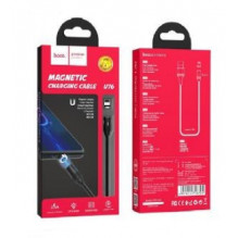 "USB kabelis HOCO U76 Fresh magnetic ""lightning"" 1m juodas"