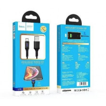 "USB kabelis HOCO U79 Admirable Smart ""lightning"" 1m juodas"