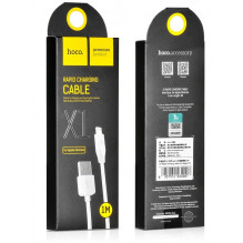 "USB kabelis HOCO X1 Rapid ""lightning"" 1m baltas"