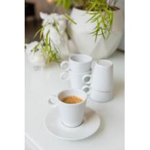 Kavos puodeliai su lėkštute...
