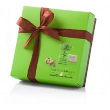 Šokoladinių triufelių dėžutė TARTUFI PISTACCHIO COLORE 125 g