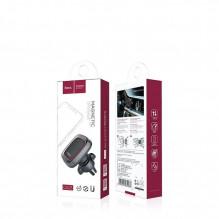 Automobilinis universalus telefono laikiklis HOCO CA23 tvirtinamas ant ventiliacijos grotelių, magnetinis, pilkas