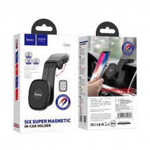 Automobilinis universalus telefono laikiklis HOCO CA61 Kaile tvirtinamas ant prietaisų skydelio, magnetinis juodas