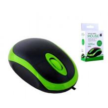 Pelė SH06 laidinė, žalios-juodos spalvos