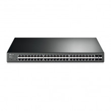 JetStream 48-Port Gigabit Smart PoE+ Switch with 4 SFP Slots