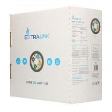 EXTRALINK CAT5E UTP (U/UTP) V2 Indoor Twisted Pair LAN cable, 305m