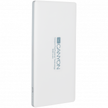 CANYON PB-51 Power bank 5000mAh Li-polymer battery,with Smart IC, Input 5V/2A, Output 5V/2A(Max), 138*69*9.2mm, 0.146kg,