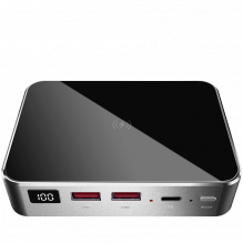 Prestigio Graphene PD PRO, fast charging powerbank, 20000 mAh, 2*USB3.0 QC, 1*Type-C PD, wireless charging interface 10W