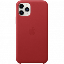 iPhone 11 Pro Leather Case - (PRODUCT)RED