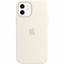 iPhone 12 | 12 Pro Silicone Case with MagSafe - White