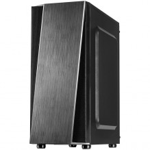 Chassis INTER-TECH T-11 Televen Gaming Midi Tower, ATX, 1xUSB3.0, 2xUSB2.0, HD audio, PSU optional, Window side panel, s